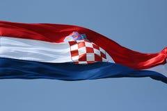 Bandierina croata Fotografia Stock Libera da Diritti