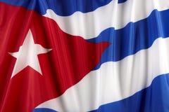 Bandierina cubana Immagine Stock Libera da Diritti