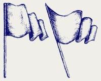 Bandierina d'ondeggiamento illustrazione vettoriale