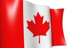 Bandierina d'ondeggiamento Canada Immagini Stock Libere da Diritti