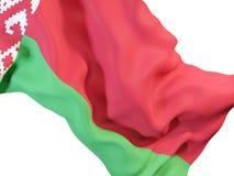 Bandierina d'ondeggiamento del Belarus Fotografia Stock Libera da Diritti