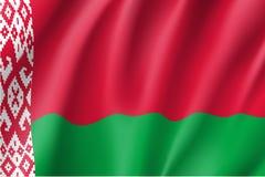 Bandierina d'ondeggiamento del Belarus Immagine Stock