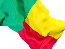 Bandierina d'ondeggiamento del Benin Fotografia Stock