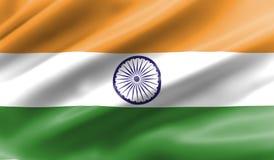 Bandierina d'ondeggiamento dell'India immagine stock