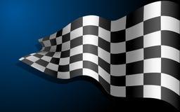 Bandierina d'ondeggiamento della corsa illustrazione vettoriale