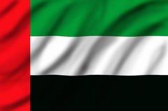 Bandierina degli Emirati Arabi Uniti Fotografia Stock Libera da Diritti