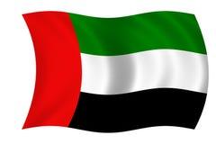 Bandierina degli Emirati Arabi Uniti Immagini Stock Libere da Diritti