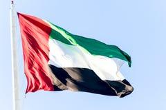 Bandierina degli Emirati Arabi Uniti Fotografie Stock Libere da Diritti