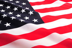 Bandierina degli S.U.A. Immagine Stock