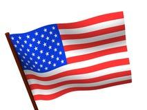 Bandierina degli S.U.A. 3d Fotografie Stock Libere da Diritti