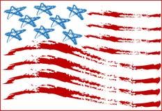 Bandierina degli S.U.A. Immagini Stock Libere da Diritti