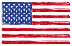 Bandierina degli S.U.A. Fotografia Stock