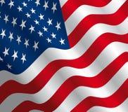Bandierina degli S.U.A. - vettore Fotografia Stock