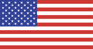 Bandierina degli Stati Uniti Immagine Stock