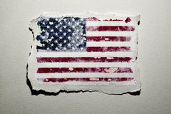 Bandierina degli Stati Uniti Fotografia Stock