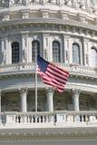 Bandierina degli Stati Uniti all'Metà-Albero Fotografia Stock