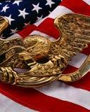 Bandierina degli Stati Uniti con l'aquila fotografia stock libera da diritti
