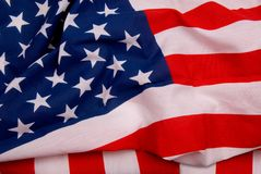 Bandierina degli Stati Uniti d'America Fotografie Stock