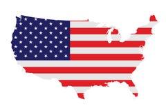 Bandierina degli Stati Uniti d'America Immagini Stock Libere da Diritti