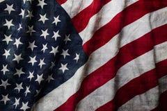Bandierina degli Stati Uniti d'America Immagini Stock