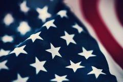 Bandierina degli Stati Uniti d'America Fotografia Stock