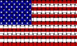Bandierina degli Stati Uniti d'America - S.U.A. 002 Immagini Stock Libere da Diritti