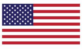 Bandierina degli Stati Uniti d'America (vettore disponibile) Immagine Stock Libera da Diritti