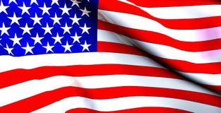 Bandierina degli Stati Uniti - riflettente fotografia stock libera da diritti