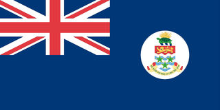 Bandierina dei Cayman Islands Fotografie Stock