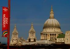 Bandierina dei Giochi Olimpici di Londra 2012 Fotografie Stock Libere da Diritti