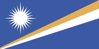 Bandierina dei Marshall Islands Immagine Stock Libera da Diritti