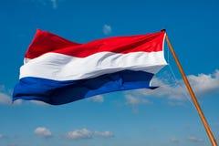 Bandierina dei Paesi Bassi sul palo Fotografia Stock