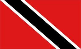 Bandierina dei Trinità e Tobago Fotografia Stock Libera da Diritti