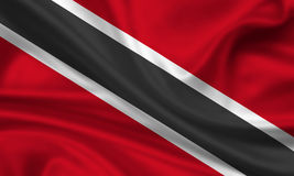 Bandierina dei Trinità e Tobago Fotografie Stock Libere da Diritti