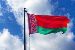 Bandierina del Belarus fotografia stock libera da diritti