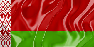 Bandierina del Belarus Fotografie Stock