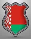 Bandierina del Belarus Distintivo ed icona di vettore Immagine Stock Libera da Diritti
