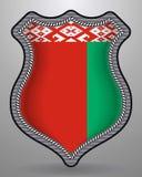 Bandierina del Belarus Distintivo ed icona di vettore Immagine Stock