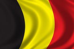 Bandierina del Belgio Fotografie Stock Libere da Diritti