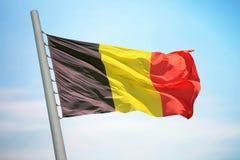 Bandierina del Belgio Immagini Stock
