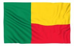 Bandierina del Benin Fotografia Stock Libera da Diritti