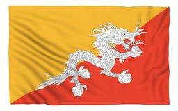 Bandierina del Bhutan Immagini Stock Libere da Diritti