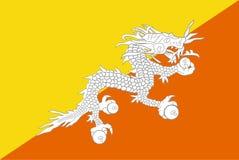Bandierina del Bhutan Immagini Stock