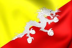 Bandierina del Bhutan Immagine Stock