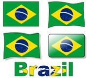 Bandierina del Brasile Immagini Stock Libere da Diritti