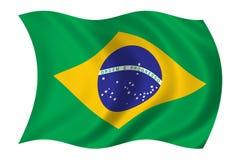 Bandierina del Brasile Fotografia Stock Libera da Diritti