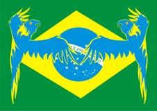 Bandierina del Brasile con McCaws Fotografia Stock Libera da Diritti