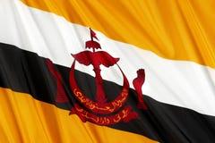 Bandierina del Brunei fotografie stock libere da diritti