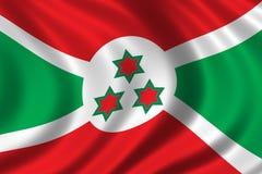 Bandierina del Burundi Immagine Stock Libera da Diritti