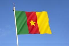 Bandierina del Cameroun Immagini Stock
